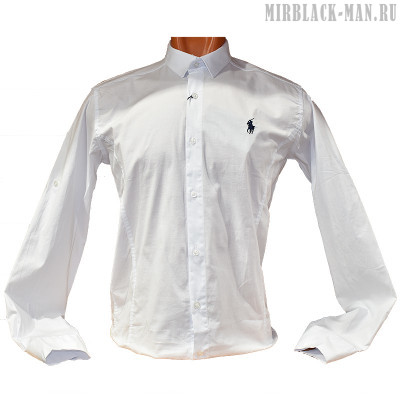 Рубашка белая RED POLO 013