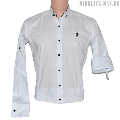 Рубашка белая POLO 01